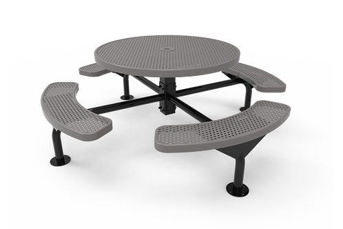 Round Nexus Pedestal Table with Perforated Steel