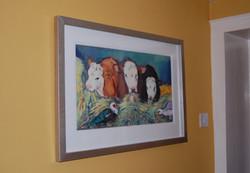 Cows feeding - Large print
