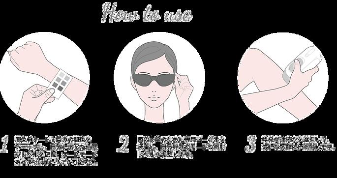 使い方 1.肌色チャートで自分の肌色をチェックし、自分に合った適度なレベルを把握。オートモードだとより簡単にケアが可能です。 2.目の安全のために専用ゴーグルを装着し、自分好みのモードや照射レベルを調整します。 3.単発か連続かを選択して、気になる部位に照射します。