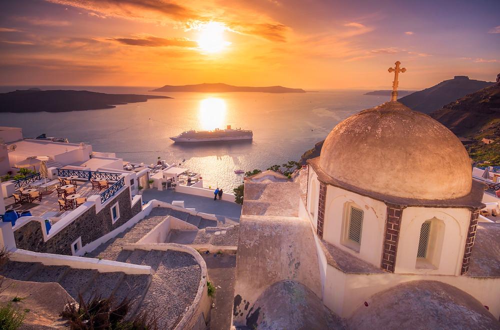 Mykonos Santorini Greece Greek Islands cruise destination affinity group travel advisor