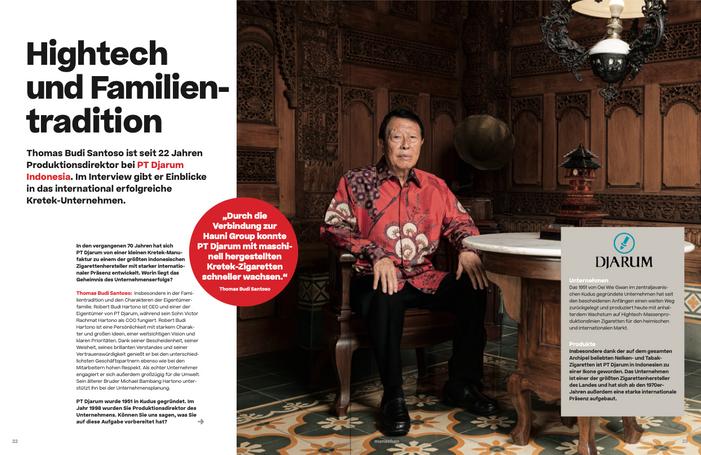 KUNDE: HAUNI AGENTUR: CLAIM FOTOGRAF: MUHAMMAD FADLI LOCATION: DJARUM   INDONESIEN LEISTUNG: VERMITTLUNG INTERNATION