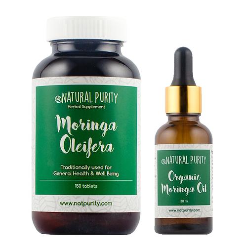 Eczema Relief Set: Moringa Oleifera Capsules & Moringa Oil