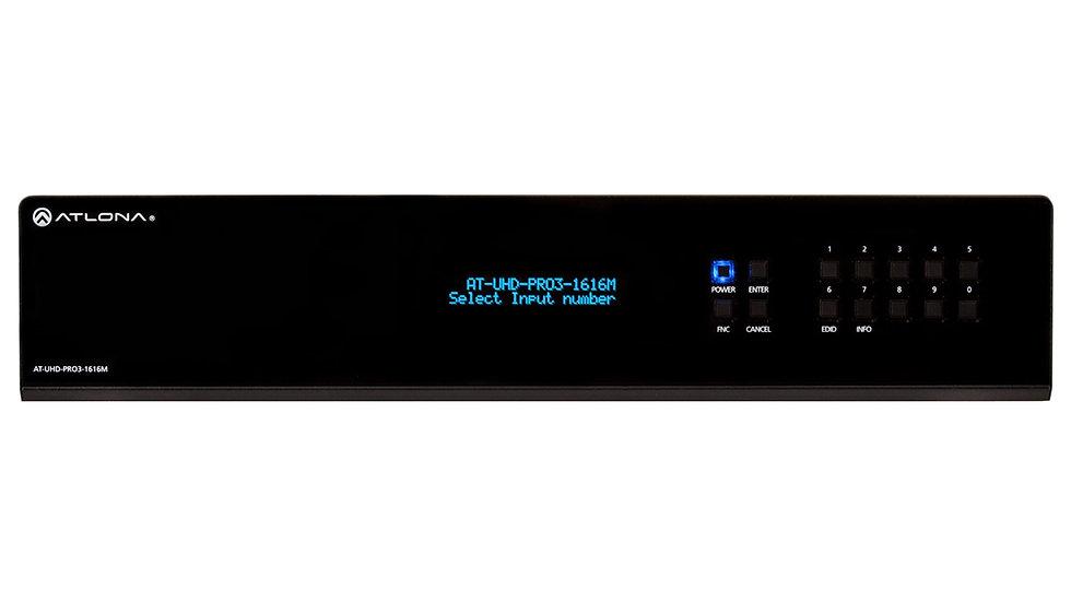 AT-UHD-PRO3-1616M - 4K/UHD 16 на 20 HDMI/HDBaseT Матричный Коммутатор