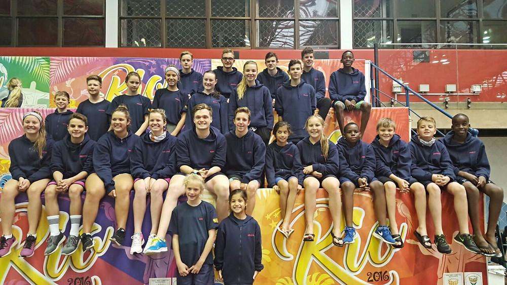 Aquatic Academy swimmers at Seagulls gala