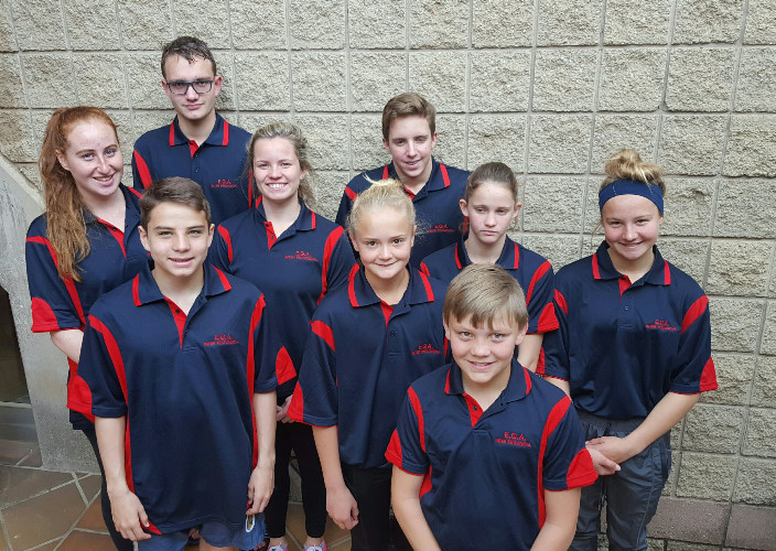 Aquatic Academy swimmers representing Ekhuruleni District