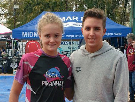 Bernelee and Kyle - international swimmers