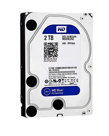 """WD Blue 2TB Desktop Hard Drive 3.5"""" SATA III"""
