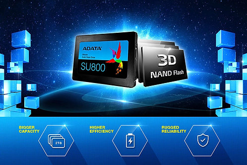 ADATA Ultimate SU800 512GB Solid State Drive (SSD), black