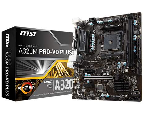 MSI A320M PRO-VD PLUS - Socket AM4 Main board