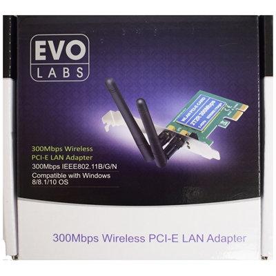 Evo Labs NPEVO-N300PCIE 300Mbps PCI WiFi Adapter