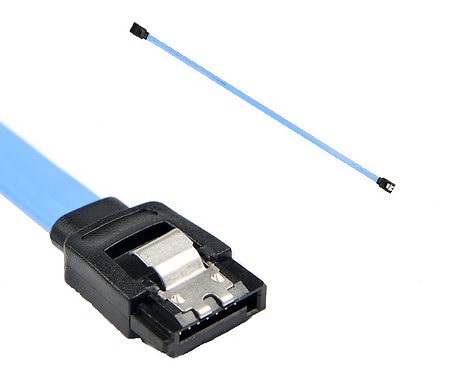 SATA III (SATA 3) Data Cable 6Gbps with Locking Latch; BlueOEM
