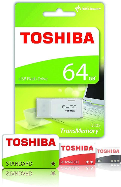 Toshiba 64GB USB 2.0 Flash Drive - White