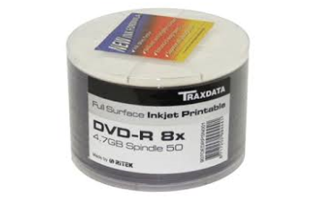 Traxdata full face printable DVD-R 50 pack