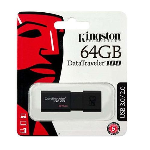 Kingston 64GB Datatraveler 100 G3 USB Flash Drive