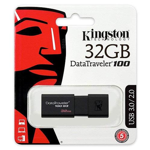 Kingston 32GB Datatraveler 100 G3 USB Flash Drive
