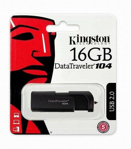 Kingston 16GB DataTraveler 104, USB 2.0 Black