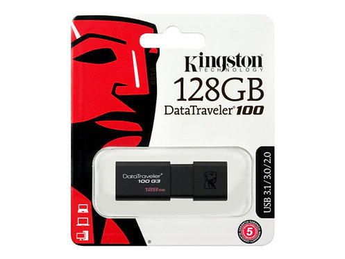 Kingston 128GB Datatraveler 100 G3 USB Flash Drive