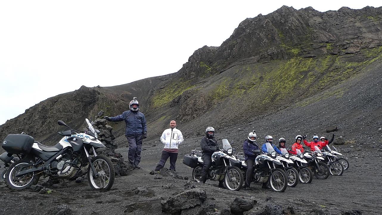 viagem de moto islandia