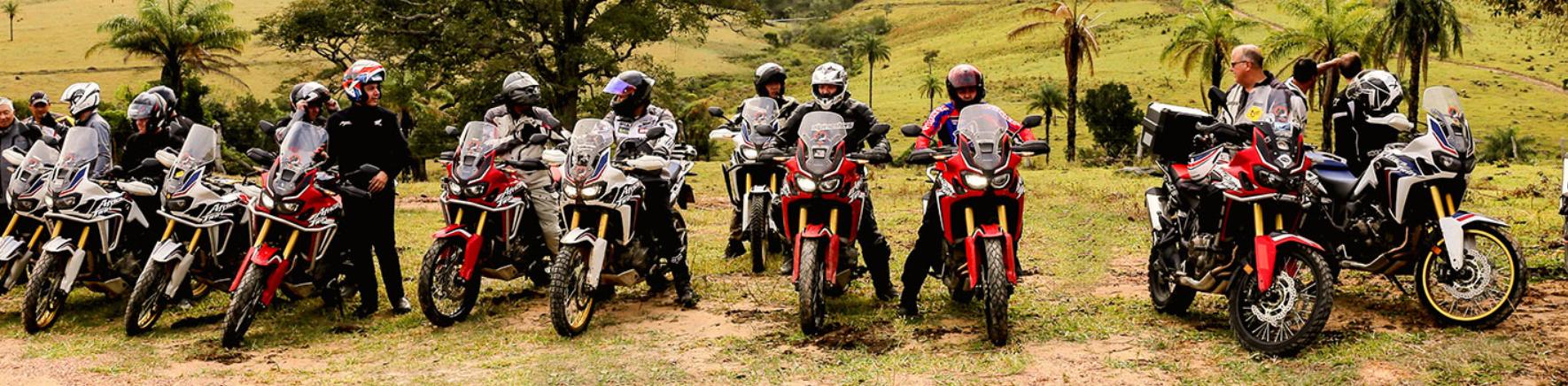 faixa aluguel de moto Honda Africa Twin.