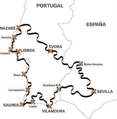 mapa rota dos navegantes portugal e espo