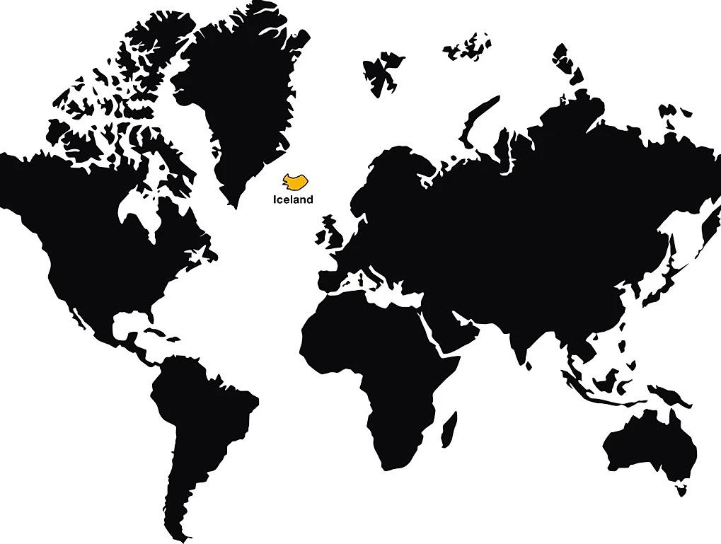 localizacao da Islandia no mapa mundi