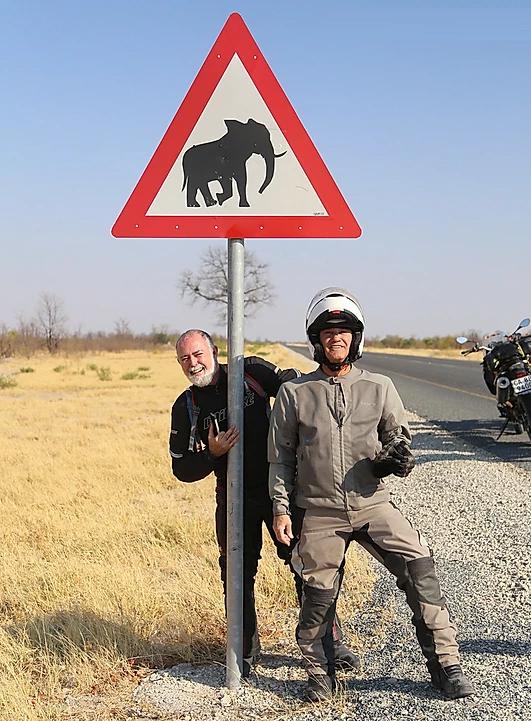 animais na rodovia africa do sul moto