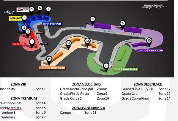 mapa localizacao dos lugares moto gp arg