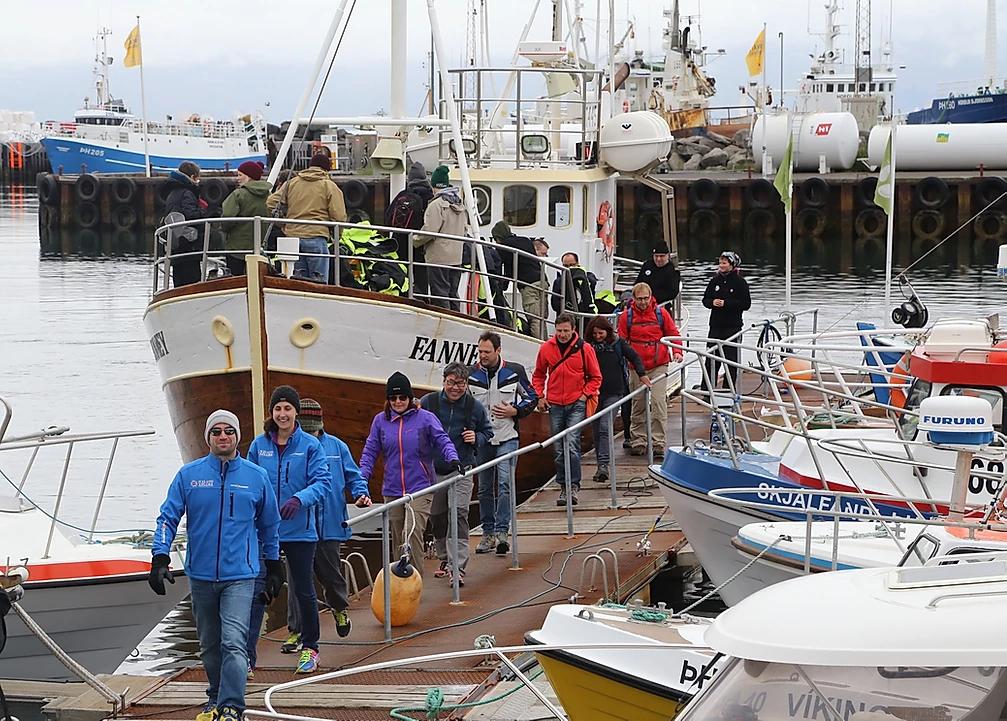 passeio de barco islandia