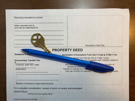 Is your house deed in the name of your trust?