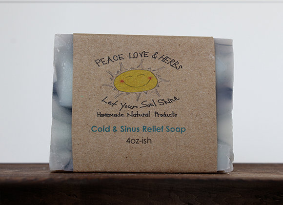 Cold & Sinus Relief Soap