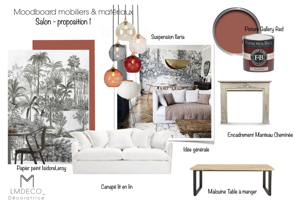 Moodboard mobiliers