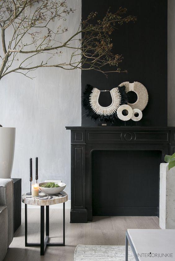 Black basic fireplace