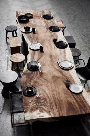 Table Bois Massif Ovale Pablo