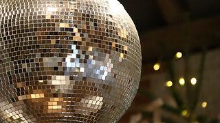 Cool wedding disco ball