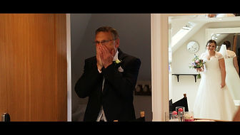 Father sees daughter in her wedding dress