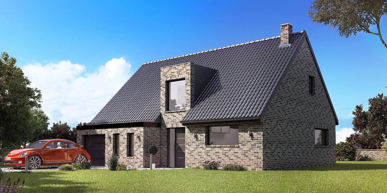 Constructeur maison en brique nord maison moderne for Constructeur maison moderne reunion