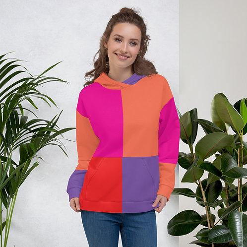 Sherbet Color Block Unisex Hoodie