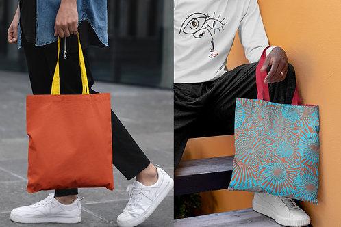 Orange and Blue Two Choice design Beach Bag