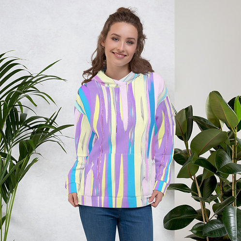 Watercolor Stripe Unisex Hoodie