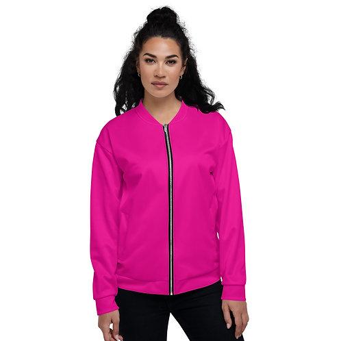Hot Pink Unisex Bomber Jacket