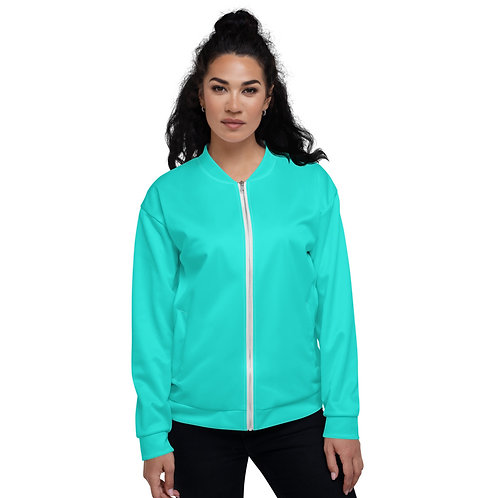 Electric Teal Unisex Bomber Jacket