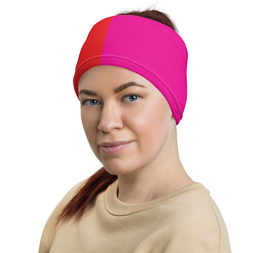 Red and Pink Neck Gaiter
