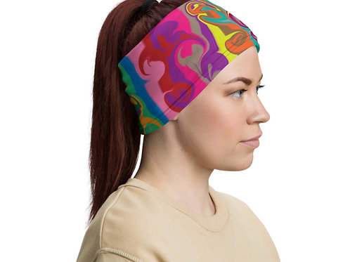 Twisted Multicolor Neck Gaiter