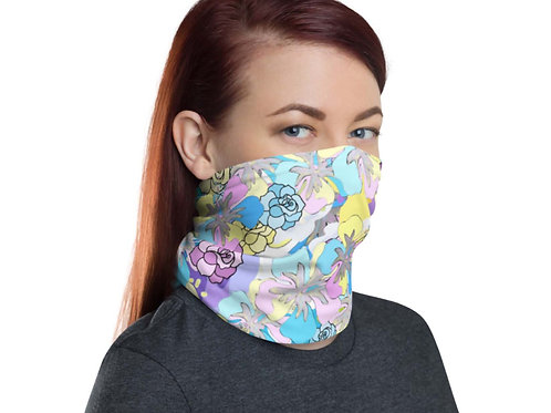Lilac and Yellow Floral Neck Gaiter