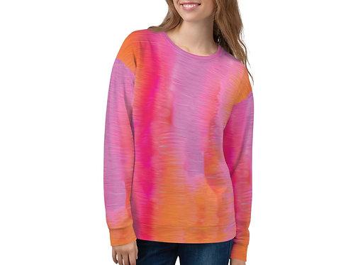 Sunset Orange and Pink Unisex Sweatshirt