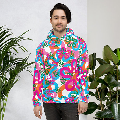 Hippie Flower 60's Colorful Unisex Hoodie
