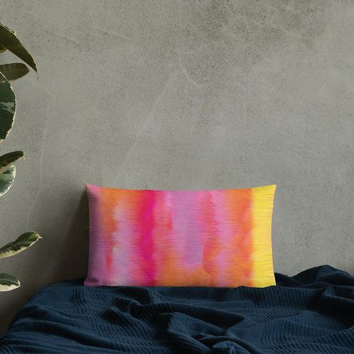 Sunset Pink and Yellow Premium Pillow