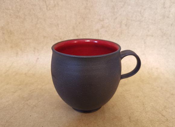 Punschtasse Rot-Schwarz