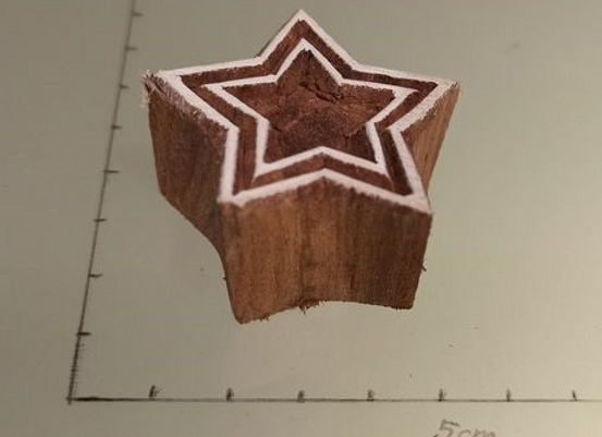 "Motivstempel aus Holz ""TJ 001"""