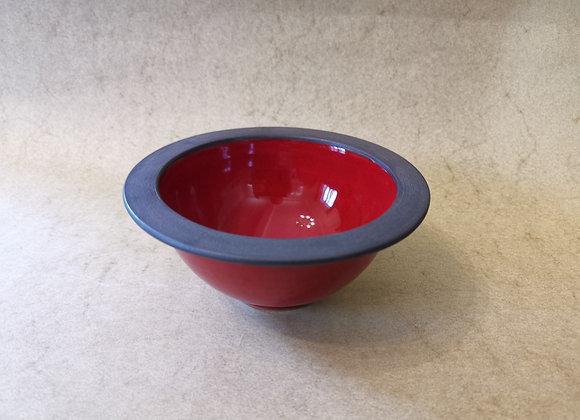 Kompottschale Rot-Schwarz